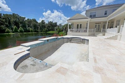 Travertine Pavers A Cool Choice For Your Pool Deck Pool