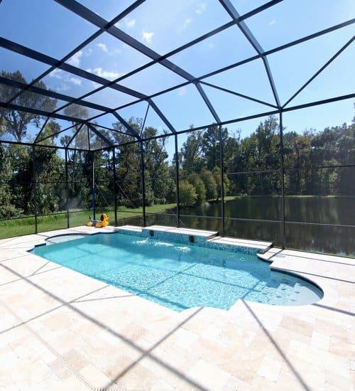 Roman-style inground swimming pool