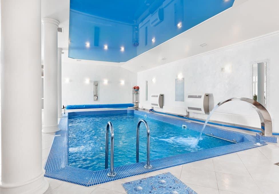 Small, opulent indoor pool