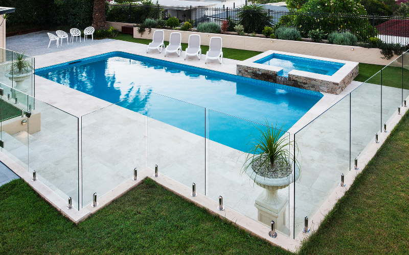 Photo of a luxury pool
