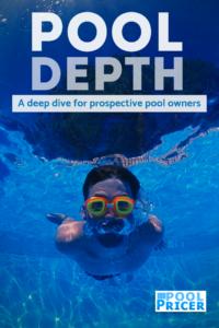 Pin for article on inground swimming pool depth